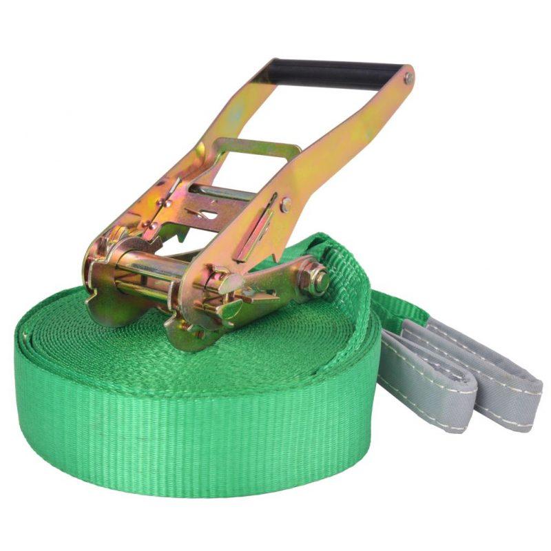 Slackline vrv 15 m x 50 mm 150 kg zelene barve