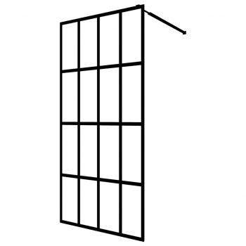 Steklena pregrada za tuš kaljeno steklo 100x195 cm