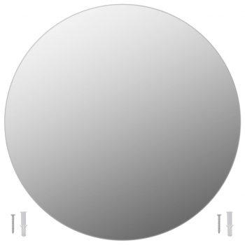 Stensko ogledalo 50 cm okroglo steklo