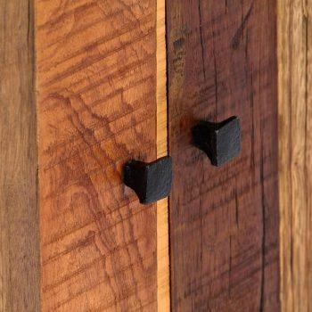 Stranska omarica 60x35x76 cm trden predelani les in jeklo
