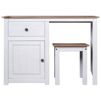 Toaletna mizica in stolček bela borovina Panama Range