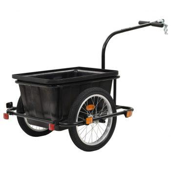 Tovorna kolesarska prikolica črna 50 L