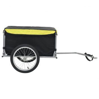 Tovorna kolesarska prikolica črna in rumena 65 kg