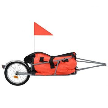 Tovorna kolesarska prikolica s torbo oranžna in črna