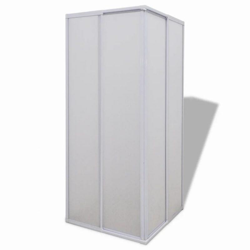 Tuš kabina z PP ploščami in aluminijastim okvirjem 80 x 90 cm