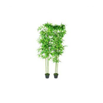 Umetni Bambus Višine 190 cm 2 Kosa Set za Dekoracijo Doma