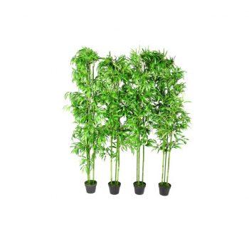 Umetni Bambus Višine 190 cm 4 Kosi Set za Dekoracijo Doma