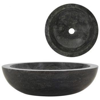 Umivalnik 40x12 cm marmor črn