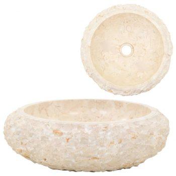 Umivalnik 40x12 cm marmor krem