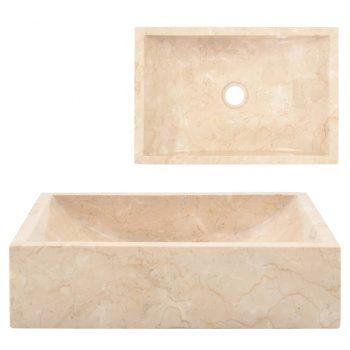 Umivalnik 45x30x12 cm marmor krem