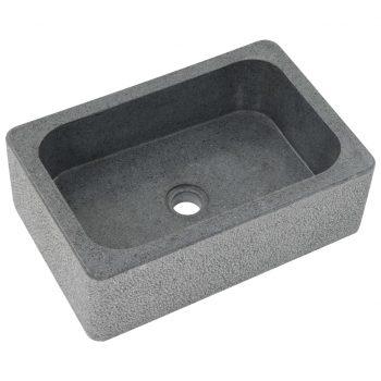Umivalnik 45x30x15 cm rečni kamen črn