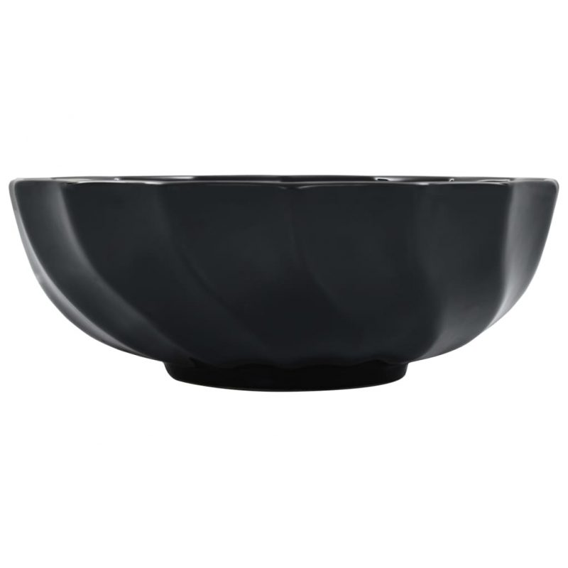Umivalnik 46x17 cm keramičen črn