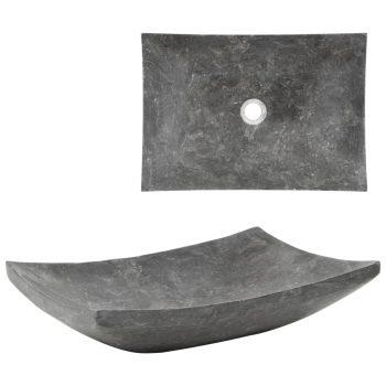 Umivalnik 50x35x12 cm marmor črn