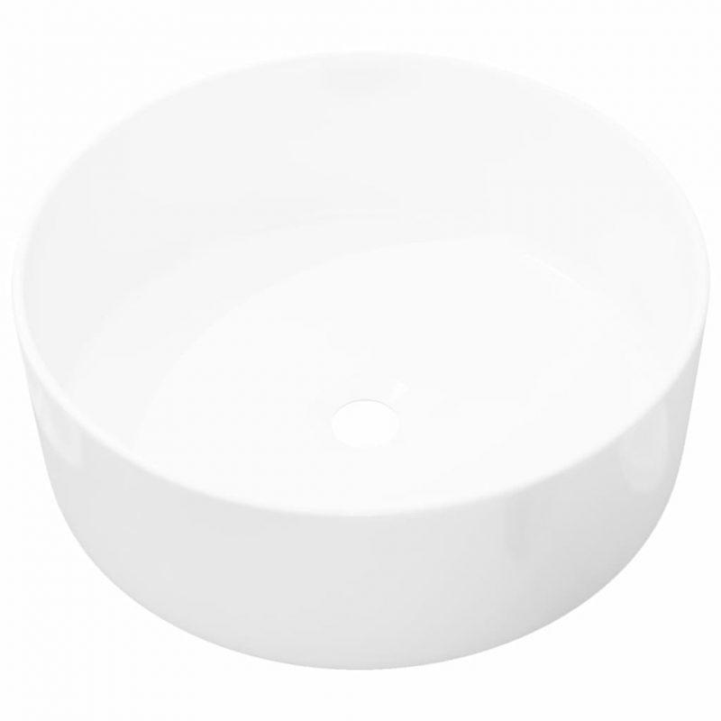 Umivalnik Okrogel Keramičen Bele Barve 40x15 cm