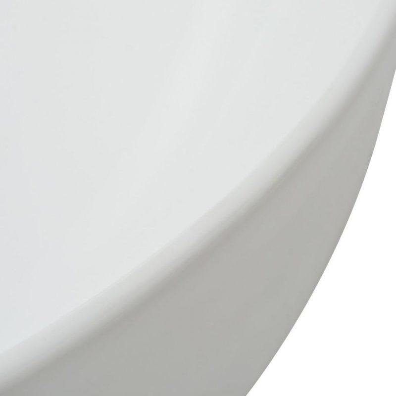 Umivalnik Okrogel Keramičen Bele Barve 41