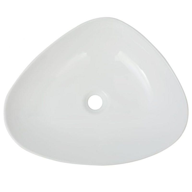 Umivalnik Trikoten Bela Keramika 50