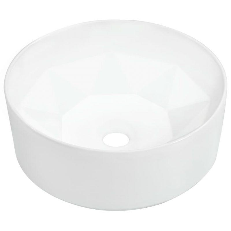 Umivalnik iz keramike 36x14 cm bel
