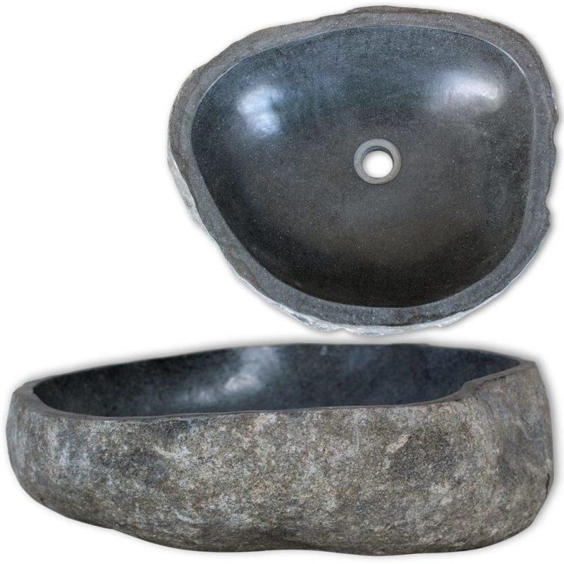 Umivalnik iz rečnega kamna ovalen 30-37 cm