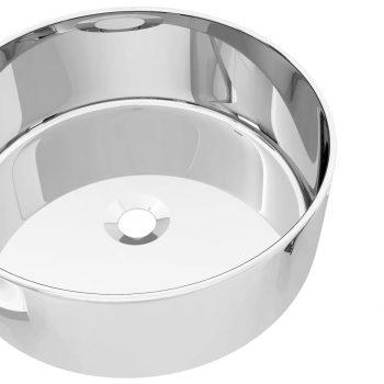 Umivalnik keramičen 40x15 cm srebrn