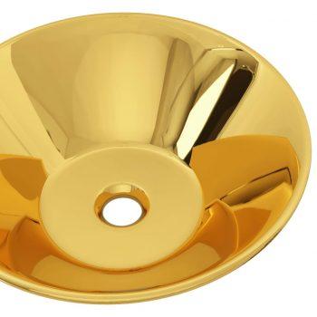 Umivalnik keramičen 42x14 cm zlat