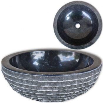 Umivalnik marmor 40 cm črn
