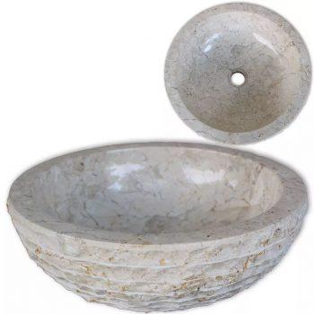 Umivalnik marmor 40 cm krem