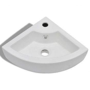 Umivalnik z odprtino za odtekanje 45x32x12