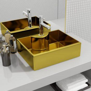 Umivalnik z odprtino za pipo 48x37x13