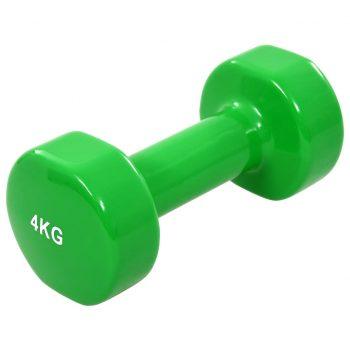 Uteži 2 kosa 8 kg lito železo zelene