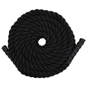 Vadbena vrv 12 m poliester črna