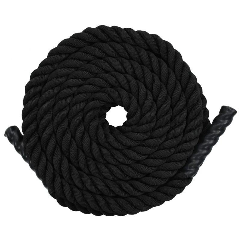 Vadbena vrv 9 m poliester črna