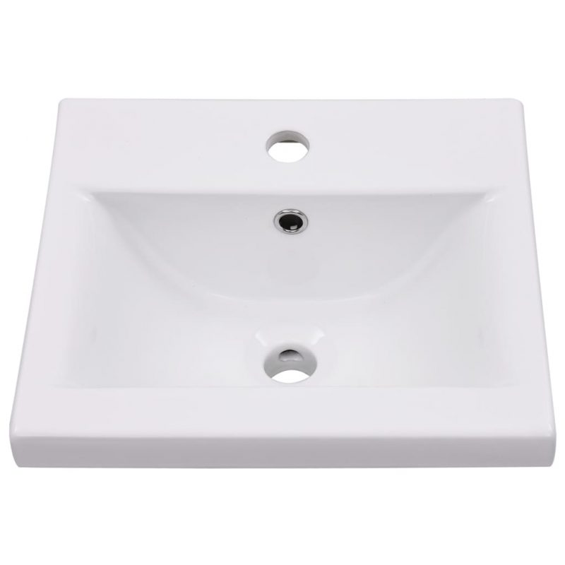 Vgradni umivalnik 42x39x18 cm keramičen bel