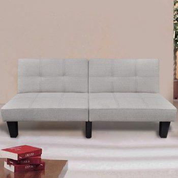 VidaXL kavč s funkcijo postelje bež barve