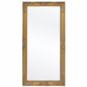 Viseče Ogledalo Baročni Stil 120x60 cm Zlate Barve