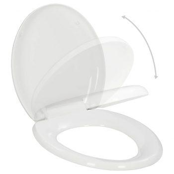 WC deska s počasnim zapiranjem hitra namestitev bela
