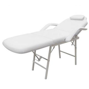 Zdravljenje stol nastavljiv nazaj in noge bela