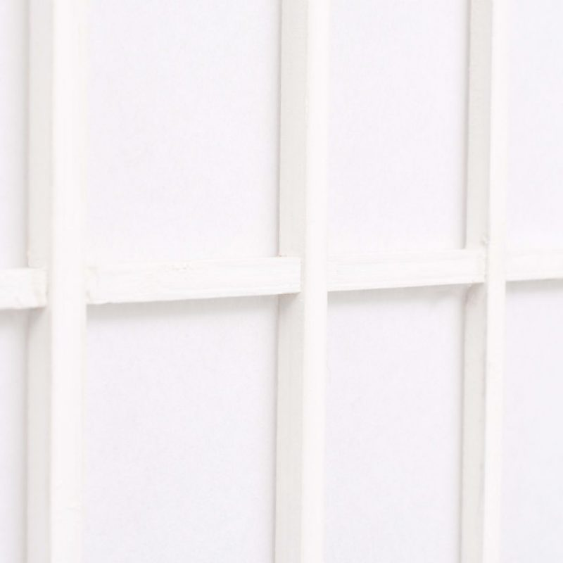 Zložljiv 3-delni paravan japonski stil 120x170 cm bele barve