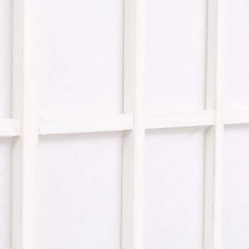 Zložljiv 5-delni paravan japonski stil 200x170 cm bele barve