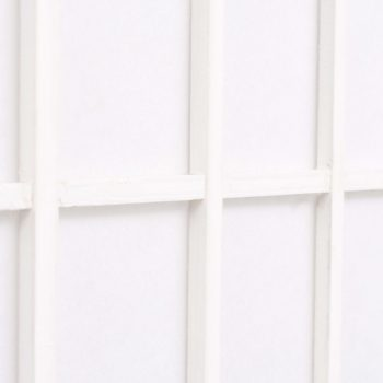 Zložljiv 6-delni paravan japonski stil 240x170 cm bele barve