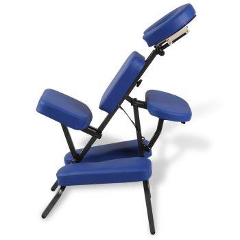 Zložljiv in prenosen masažni stol moder