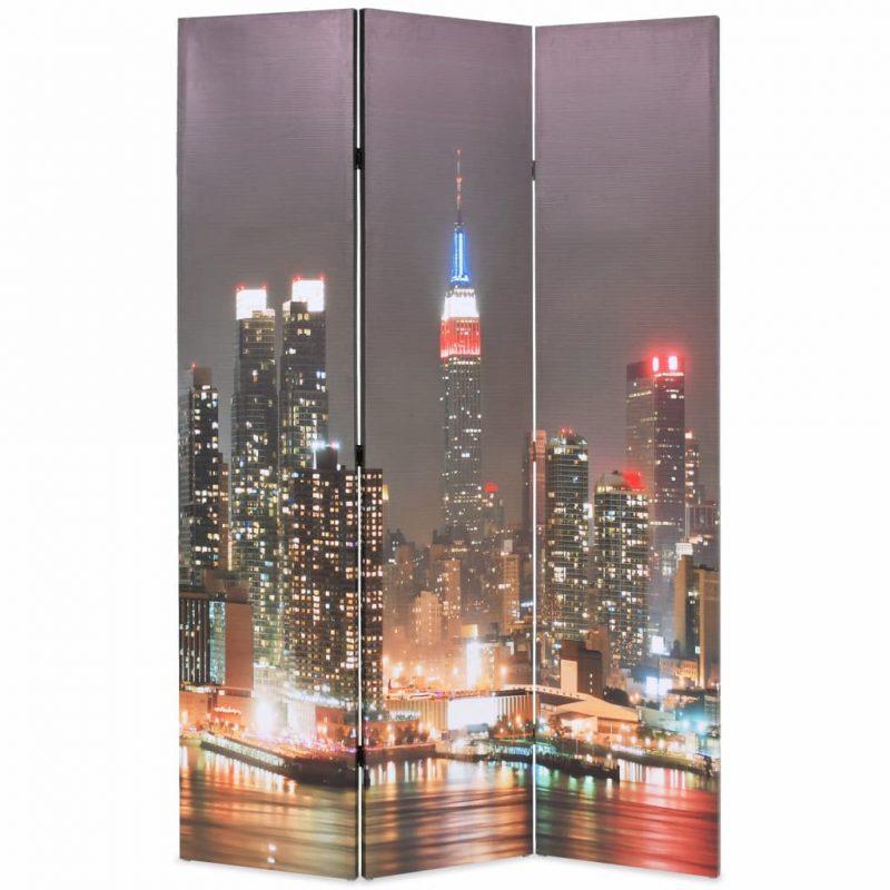 Zložljiv paravan 120x170 cm New York ponoči