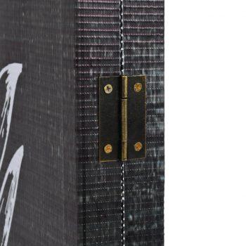 Zložljiv paravan 120x170 cm perje črn in bel