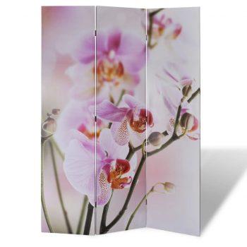 Zložljiv paravan 120x170 cvetje