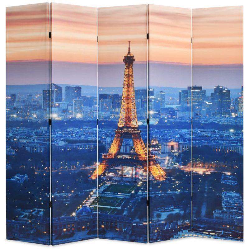 Zložljiv paravan 200x170 cm Pariz ponoči