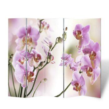 Zložljiv paravan 200x170 cm cvetje