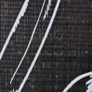 Zložljiv paravan 200x170 cm perje črn in bel