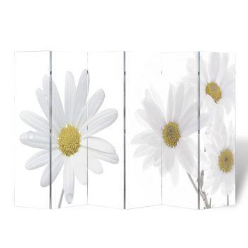 Zložljiv paravan 240x170 cm cvetje
