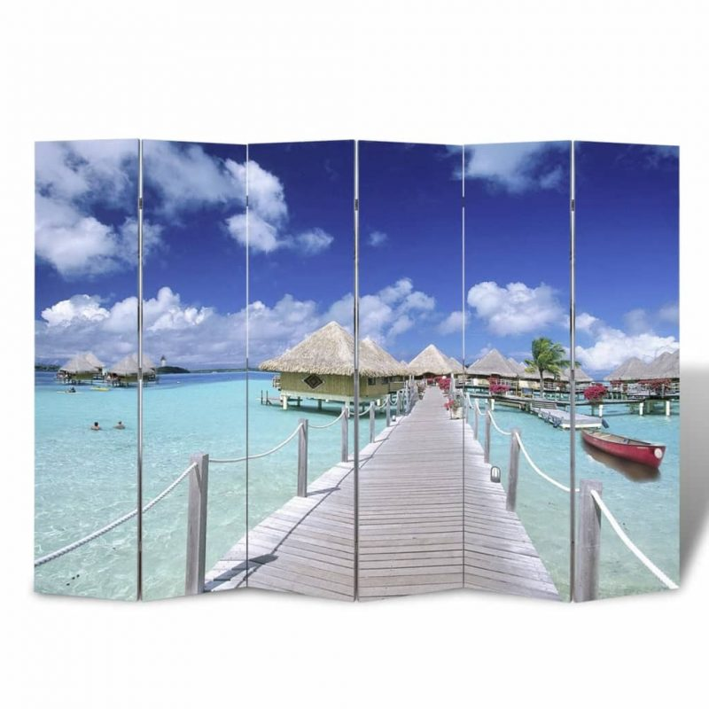 Zložljiv paravan 240x170 cm plaža