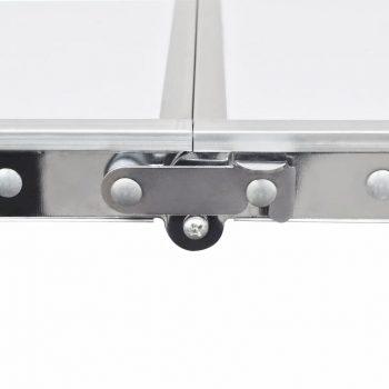 Zložljiv set za kampiranje miza z nastavljivo višino 180x60cm in 6stol