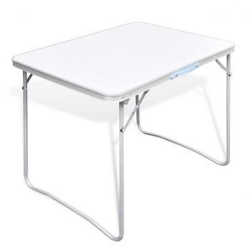 Zložljiva miza za kampiranje s kovinskim okvirjem 80 x 60 cm